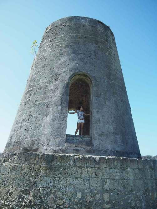 Ancien moulin à vent de l'habitation Roussel-Trianon sur Marie-Galante.