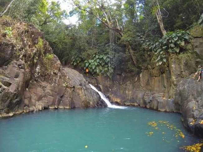 Cascade du Saut d'Acomat en Guadeloupe, sur Basse-Terre.
