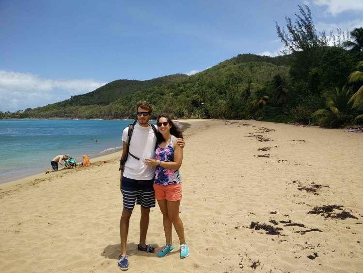 Sur la plage de Grand Anse au nord-ouest de la Guadeloupe.