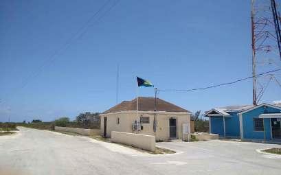 Le bâtiment des Customs sur l'île de Mayaguana aux Bahamas.