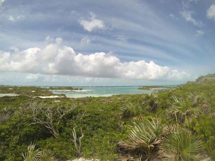 Vue imprenable sur Stocking Island aux Bahamas, dans les Exumas.