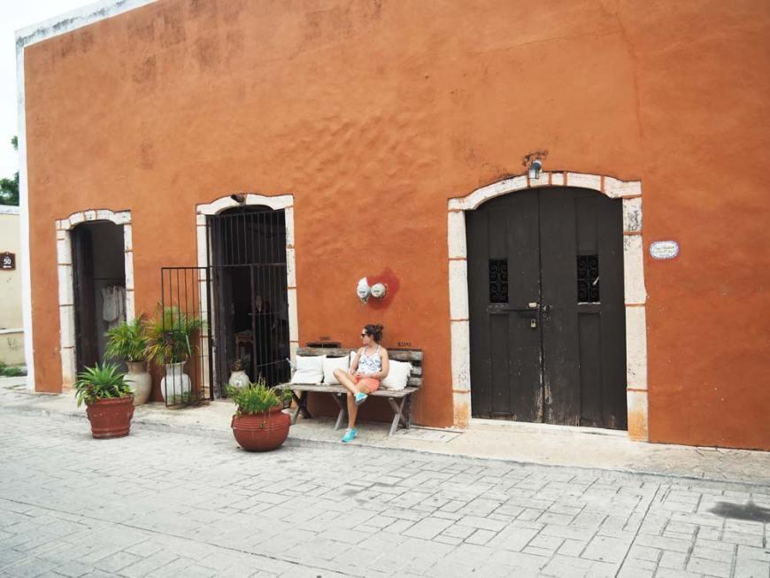 Dans la rue de Los Frailes, à Valladolid, au Mexique.