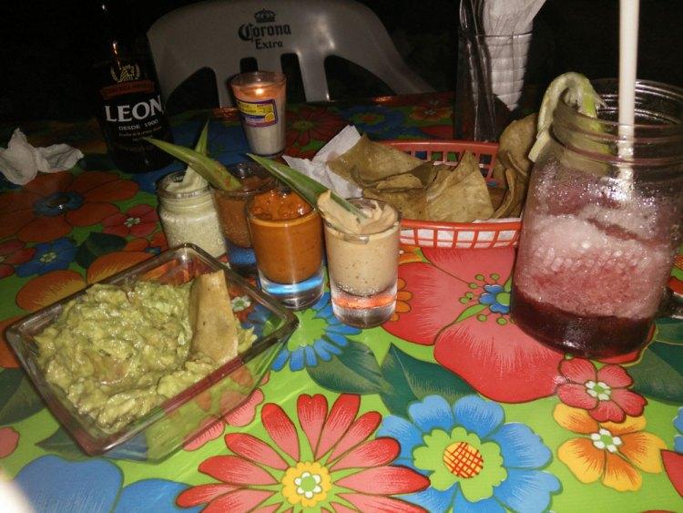 Restaurant à Bacalar au Mexique.