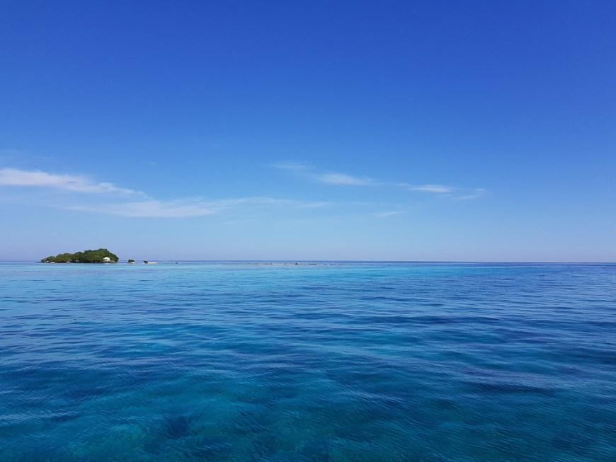 Passage près de Seal Cay au Bélize.