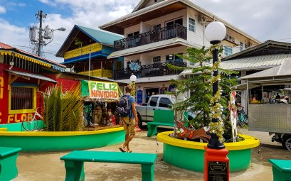 Décorations de Noël à Bocas del Toro au Panama.