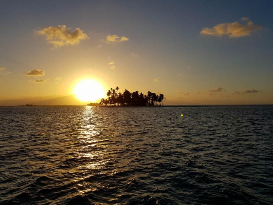 Coucher de soleil aux San Blas.