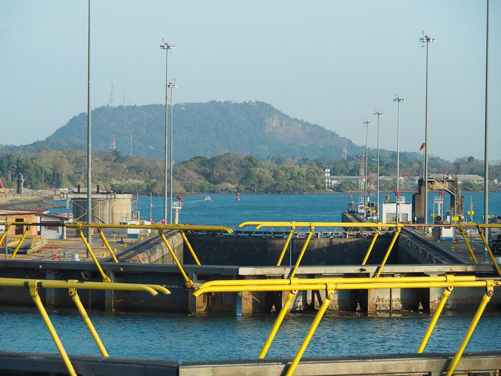 Les écluses du canal de Panama, côté Pacifique.