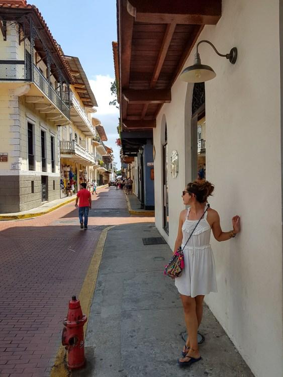 Dans les petites ruelles de la vieille ville de Panama City.