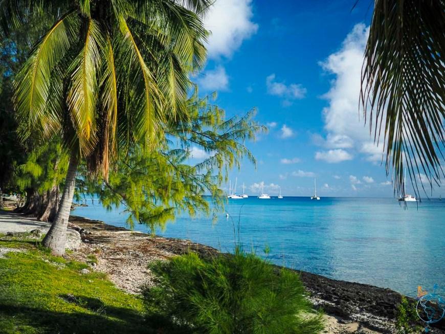 Mouillage de Rotoava au nord de l'atoll de Fakarava.