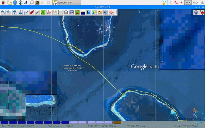 Navigation entre les atolls de Toau et Apataki.