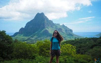 Point de vue devant le mont Rotui, au nord de l'île de Moorea.