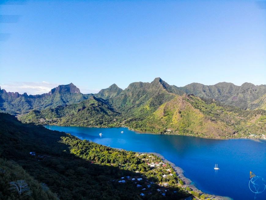 La baie d'Opunohu vue depuis le drone DJI MavicAir.