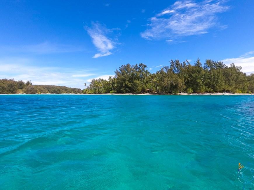 Motu Fareone au nord-ouest de l'île de Moorea.