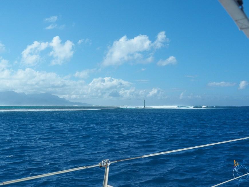 La passe Paipai à l'ouest du double lagon de Raiatea et Taha'a.