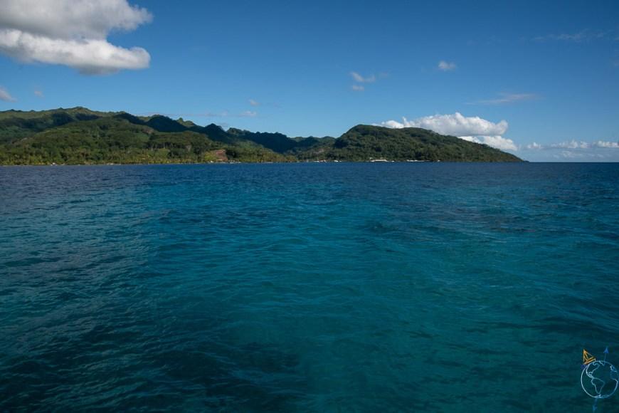 La côte ouest de l'île de Taha'a.