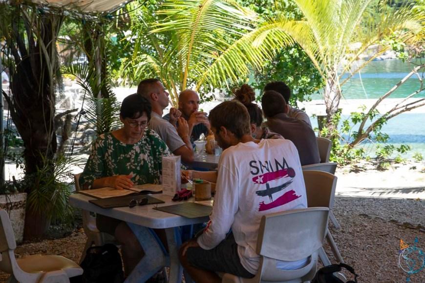 Restaurant Yacht Club de Huahine, à Fare.