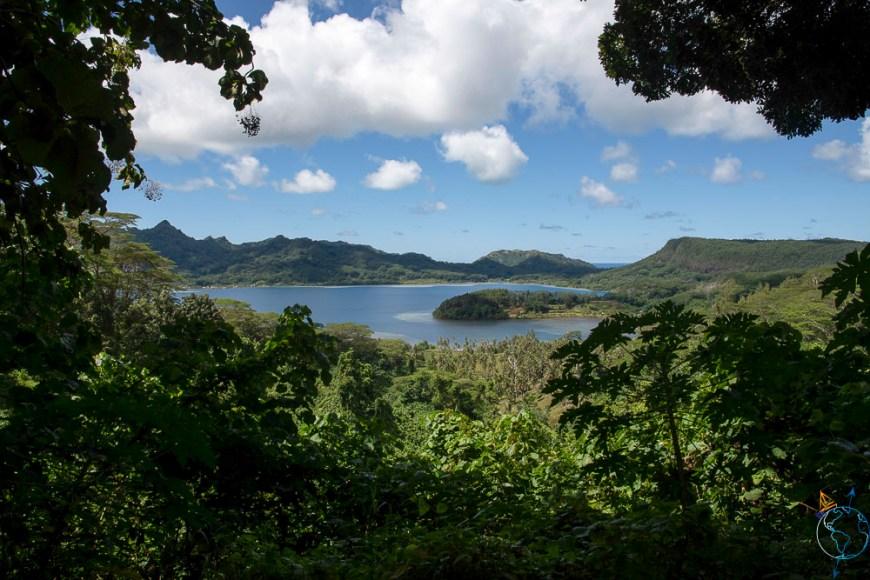 La baie de Maroe vue depuis le Belvédère sur Huahine Nui.