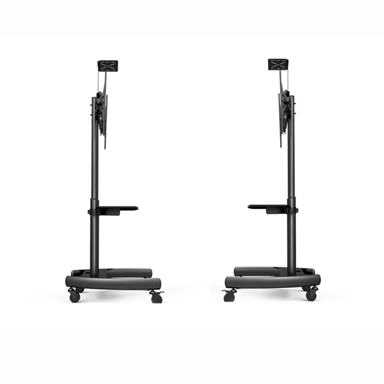 Tv Monitor Holder Floor Stand Supplier With Universal Rack