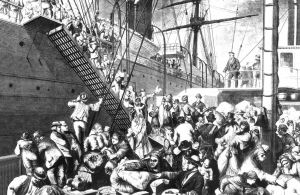Germans emigrate to America-1874