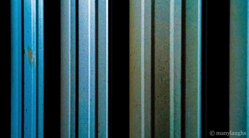 Blue-green siding