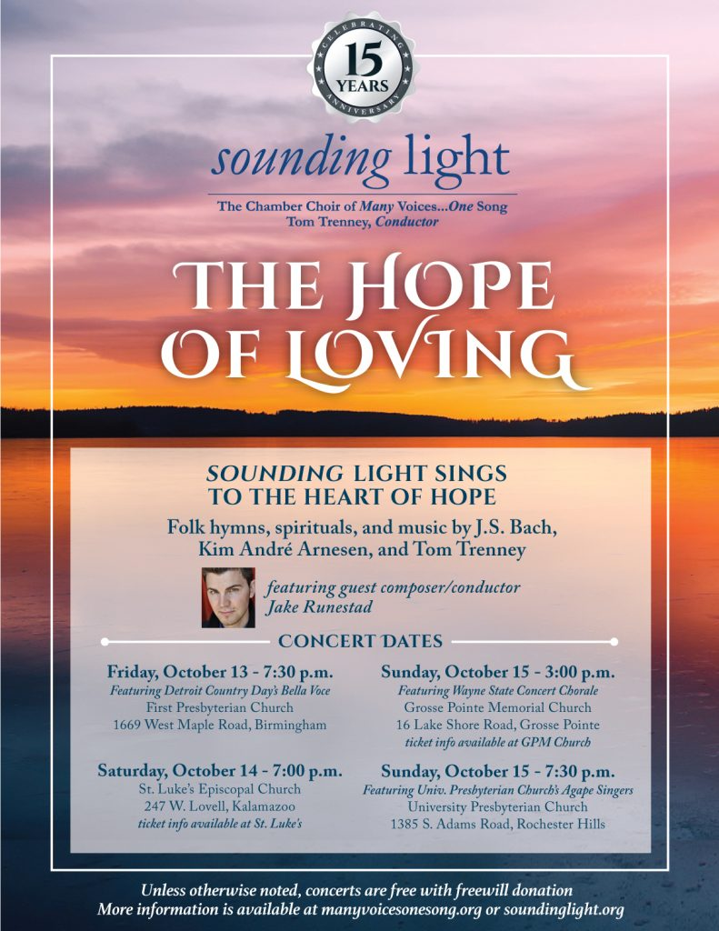 The Hope of Loving Concert Poster
