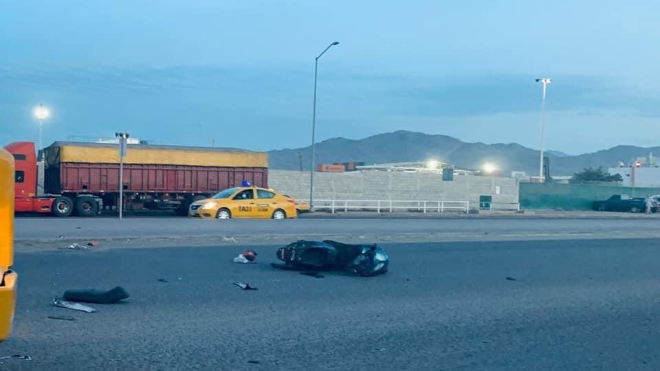 Pésimo estado de carretera Puerto a Jalipa provoca accidente a motociclista