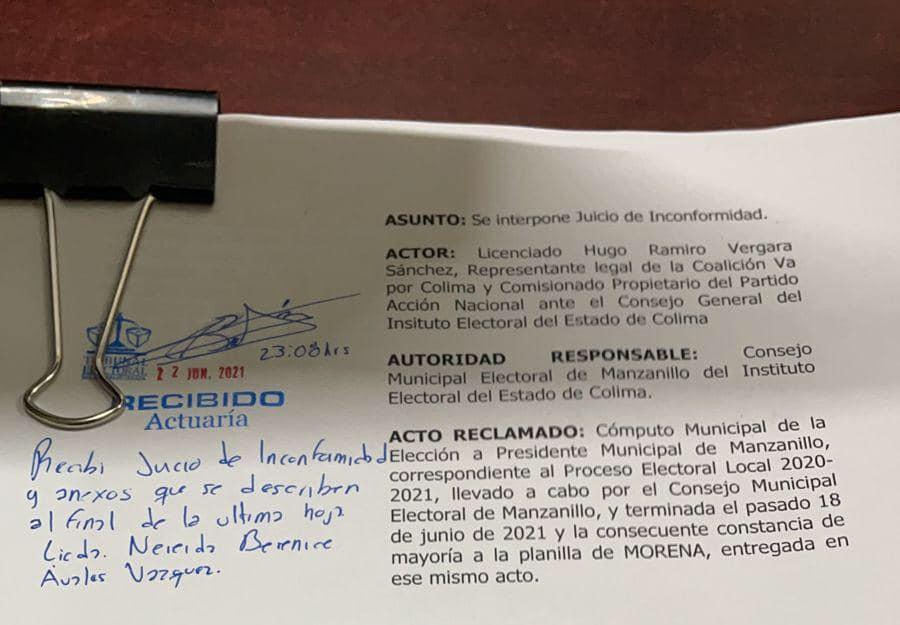 Impugnan la elección para presidente de Manzanillo