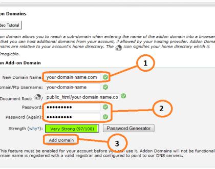 add addon domain cpanel 2