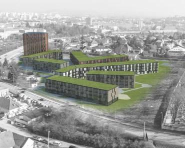 Súťažný návrh na obytnú zónu Hviezdoslavova v Nitre