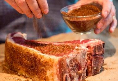 carne de gado com dry rub