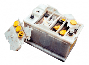 bateria vazando