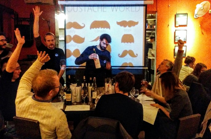 CD Maovember 2015 Guessing wines at the French-China blind tasting at Cafe de la Poste.