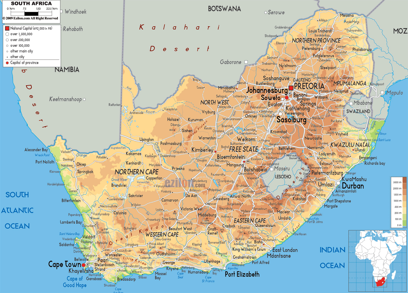 Online Maps of South Africa Map