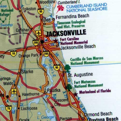 Map Of Northeast Florida.Map Northeast Florida Coast