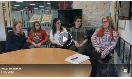 Young Commissioners were interviewed by EDP as part of the EDP Takeover Day
