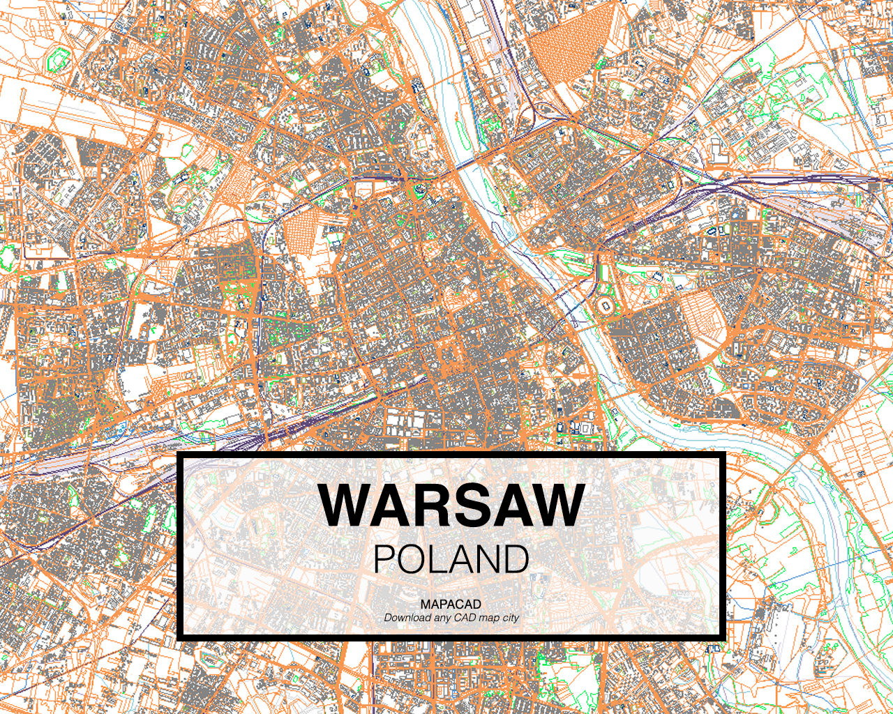 Warsaw dwg mapacad warsaw poland 01 mapacad download map cad dwg gumiabroncs Gallery