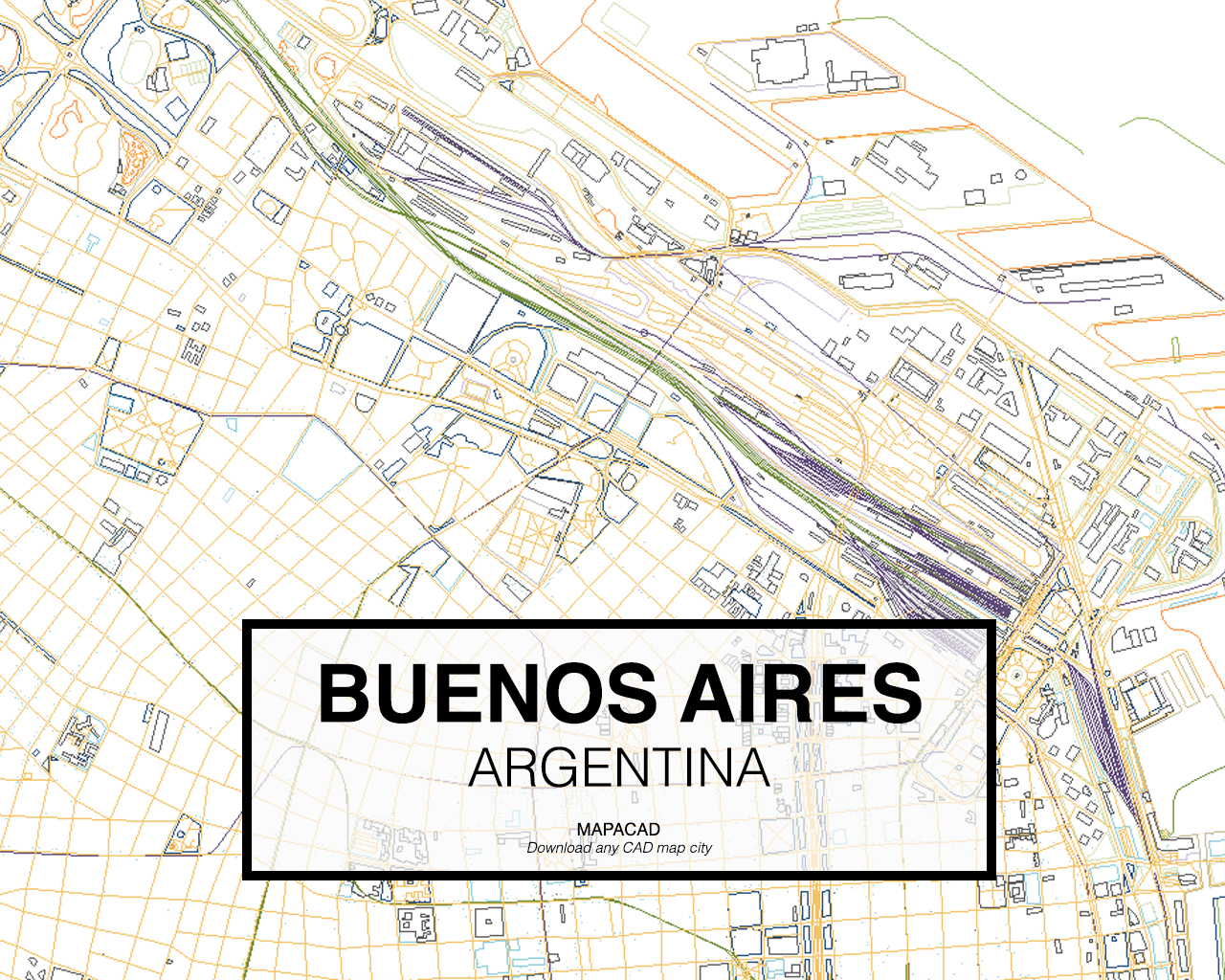 Buenos AiresDWG Mapacad - Argentina map download