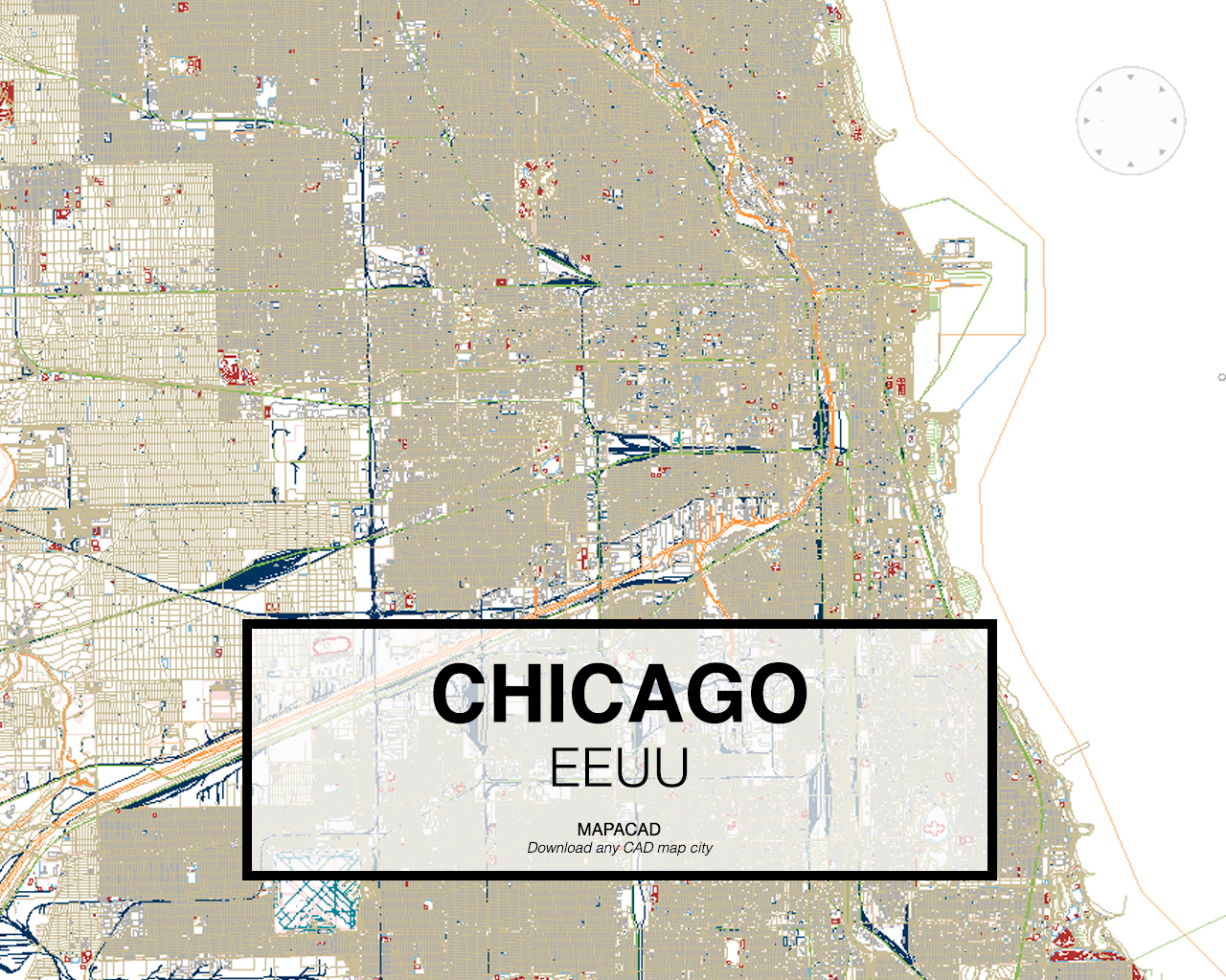 Download chicago dwg mapacad chicago eeuu 001 mapacad download map cad dwg gumiabroncs Choice Image