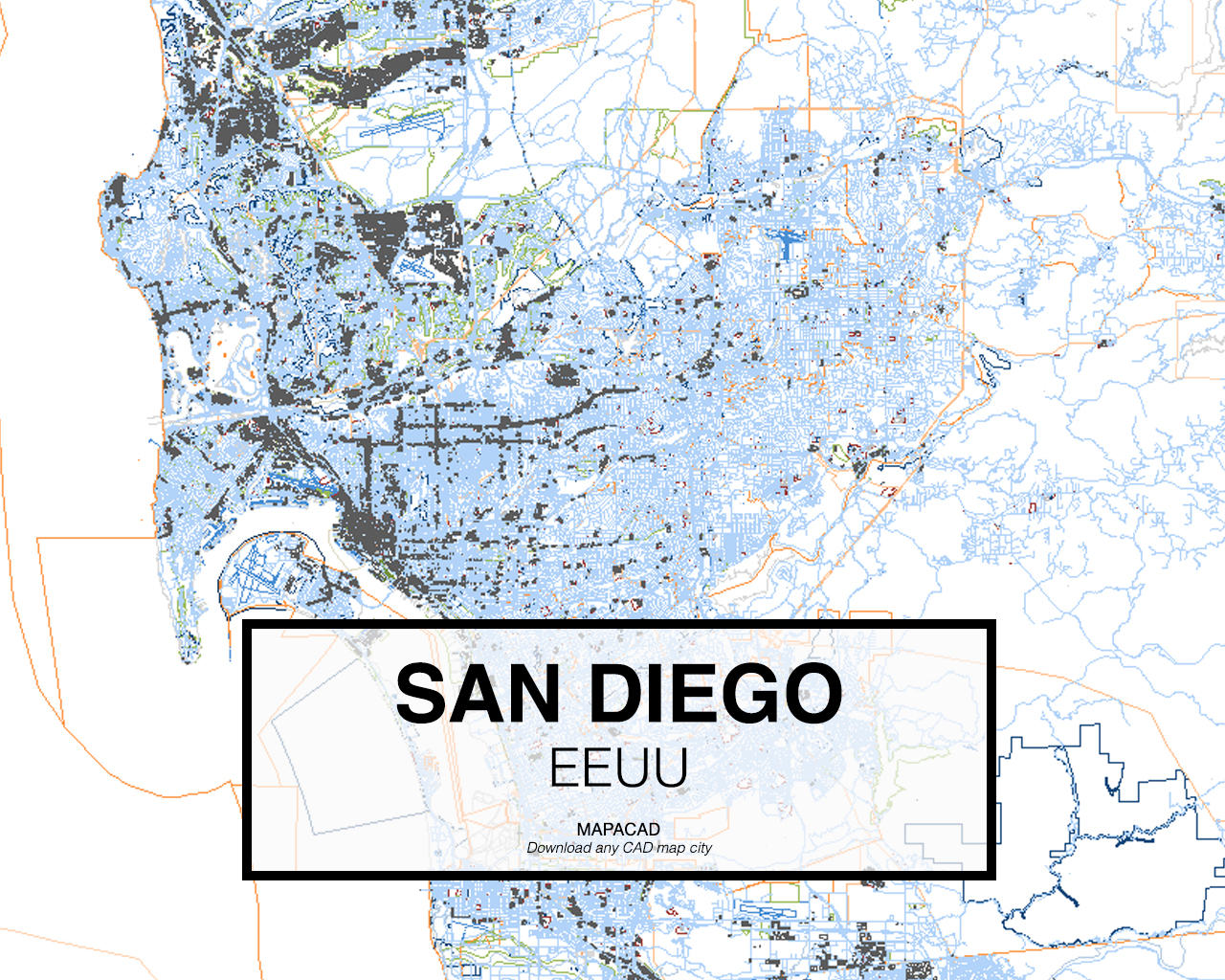 Download san diego dwg mapacad san diego eeuu 01 mapacad download map cad gumiabroncs Gallery