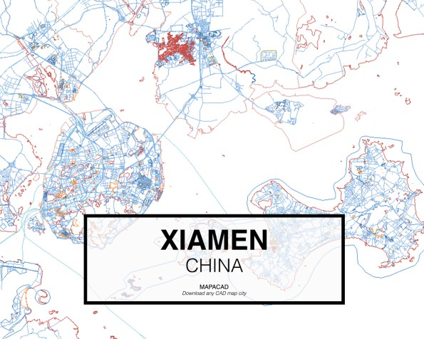 Xiamen-China-01-Mapacad-download-map-cad-dwg-dxf-autocad-free-2d-3d