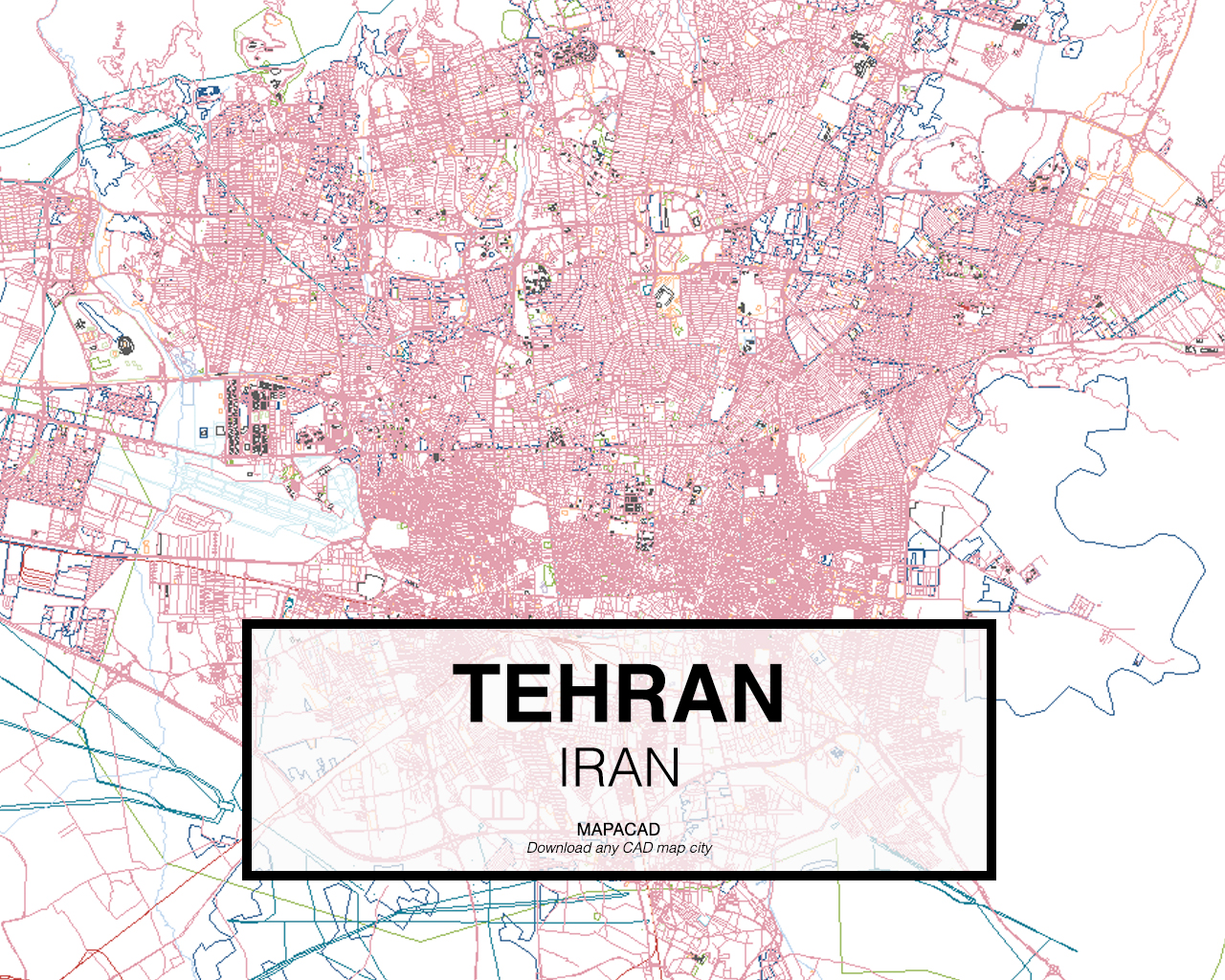 tehran iran 01 mapacad download map cad dwg