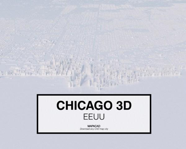 Chicago-01-3D-model-download-printer-architecture-free-city-buildings-OBJ-vr-mapacad