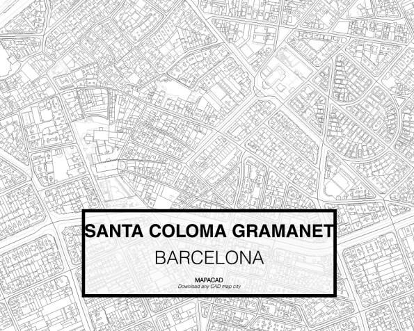 Santa Coloma de Gramanet-Barcelona-02-Mapacad-download-map-cad-dwg-dxf-autocad-free-2d-3d