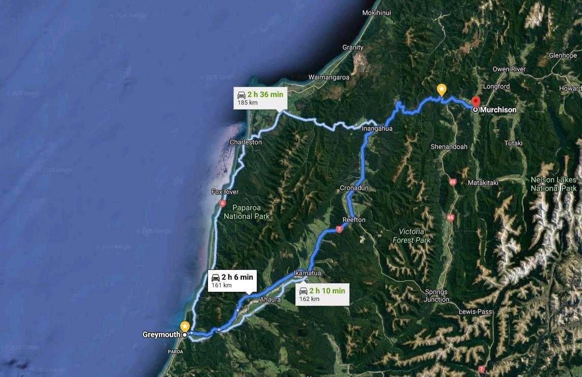 Maps-Greymouth-Nelson