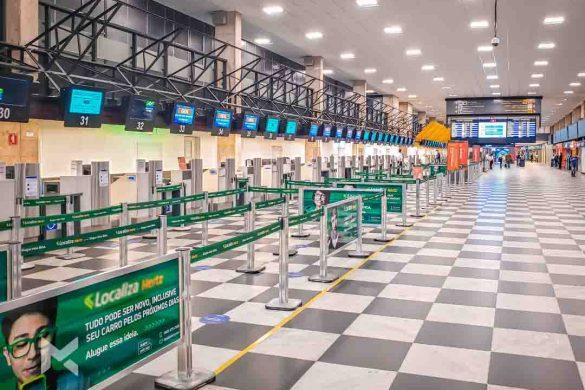 Aeroportos vazios durante pandemia