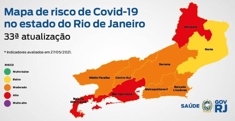 Mapa de Risco Covid Rio de Janeiro Arraial do Cabo