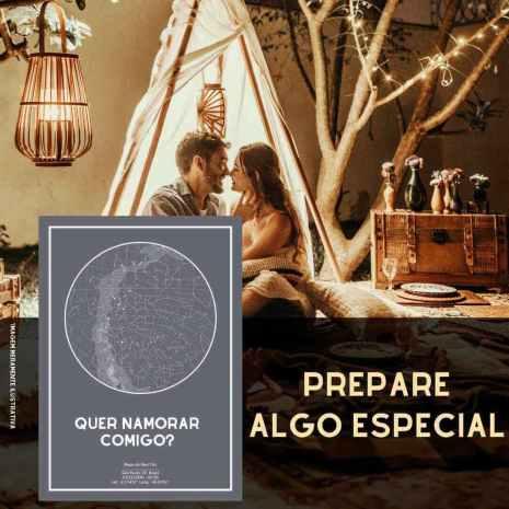 casal em um ambiente produzido romanticamente com luzes e velas