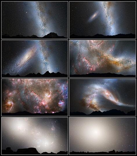 colisao galaxia de andromeda e via lactea