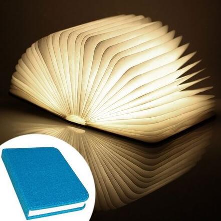 sites de presentes criativos - loja hmmm - luminária em formato de livro