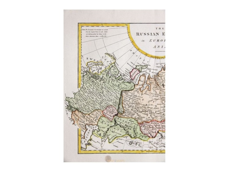 The Russian Empire in Europe and Asia  Mapandmaps com     The Russian Empire in Europe and Asia by Cooke 1802